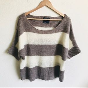 American Eagle Striped Sweater XL